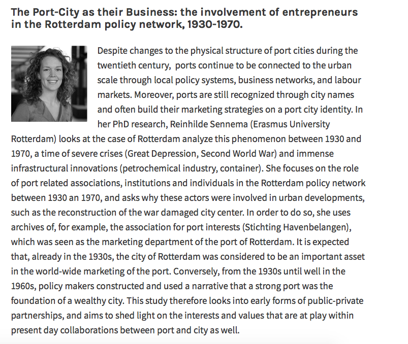 The Port-City as their Business: the involvement of entrepreneurs in the Rotterdam policy network, 1930-1970